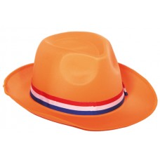 Cowboy hoed vilt oranje
