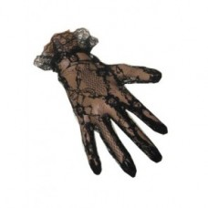 Gloves lace short black