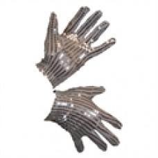 Handschoenen met pailletten zilver