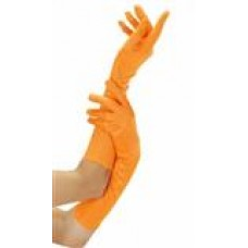 Handschoenen lang neon orange