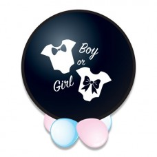 Confetti ballon gender reveal it's a girl