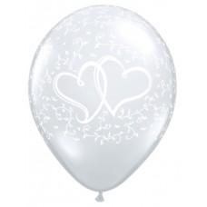 Ballonnen  Wit met Harten