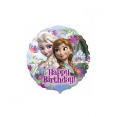 Folieballon Happy Birthday Frozen  (met helium)
