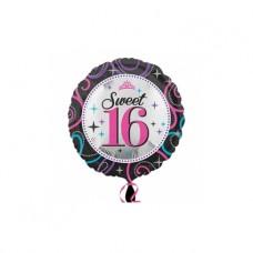 Folieballon Sweet 16  (met helium)