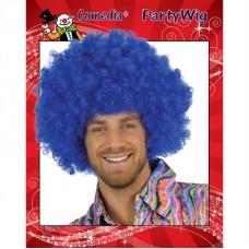 Afro super pruik blauw