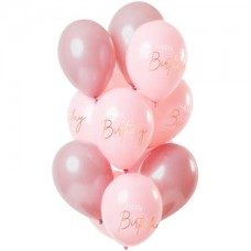 Ballonnen 'Happy Birthday'  Elegant Lush Blush