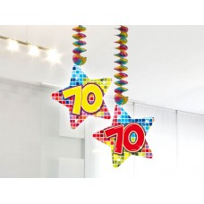 Hangdecoratie blocks 70 jaar