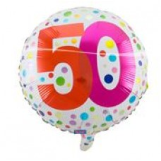Rainbow Dots 50 Folieballon 50 met helium