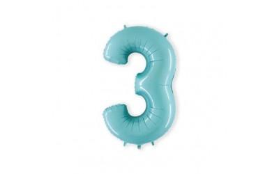 Cijfer folieballon 3 mint