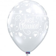 Ballon  Just Married Diamond