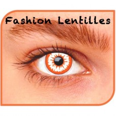 Kleurlenzen Fashion lentilles - Bloeddoorlopen maandlenzen