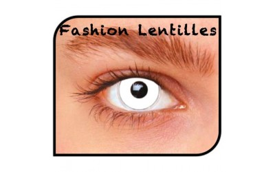 Kleurlenzen Fashion lentilles - White Out maandlenzen
