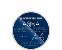 Kryolan Aquacolor Waterschmink 20 ml - 102 zwartbruin