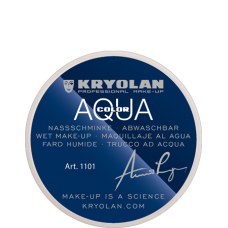 Kryolan Aquacolor Waterschmink 55 ml - 101  Donkerbruin