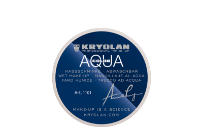 Kryolan Aquacolor Waterschmink 55 ml - 102 zwartbruin