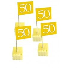Cocktail prikkers 50 jaar (50 stuks)