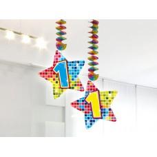 Hangdecoratie blocks 1 jaar