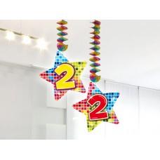Hangdecoratie Blocks 2 jaar