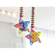 Hangdecoratie Blocks 3 jaar