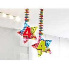 Hangdecoratie Blocks 4 jaar