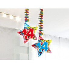 Hangdecoratie Blocks 14 jaar