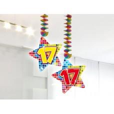 Hangdecoratie Blocks 17 jaar