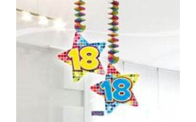 Hangdecoratie Blocks 18 jaar