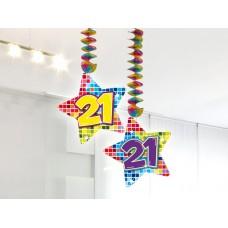 Hangdecoratie Blocks 21 jaar