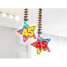 Hangdecoratie Blocks 45 jaar