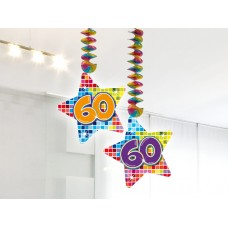 Hangdecoratie Blocks 60 jaar