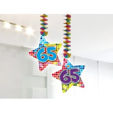 Hangdecoratie Blocks 65 jaar