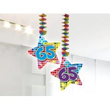 Hangdecoratie Blocks 65 jaar