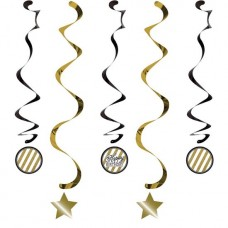 HANGDECORATIE BLACK & GOLD