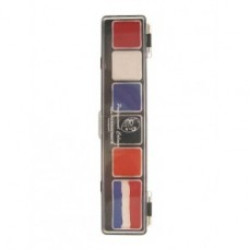 PXP palet 5 x 3 and 1 x 6 gram nl/uk/usa/france colours with brush size 2. 5 Regular colours and 1 splitcake.