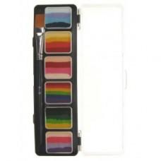 PXP Special FX 6 x 6 gram splitcake palet with a brush size 6 - B.