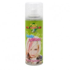 Haarkleurspray  glitter zilver 125ml