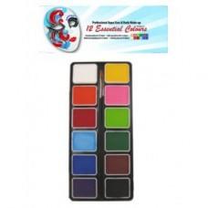 Aqua schmink kleurenpalet