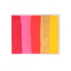 Aqua schmink splitcake 50 gr. rood/roze/goud/geel